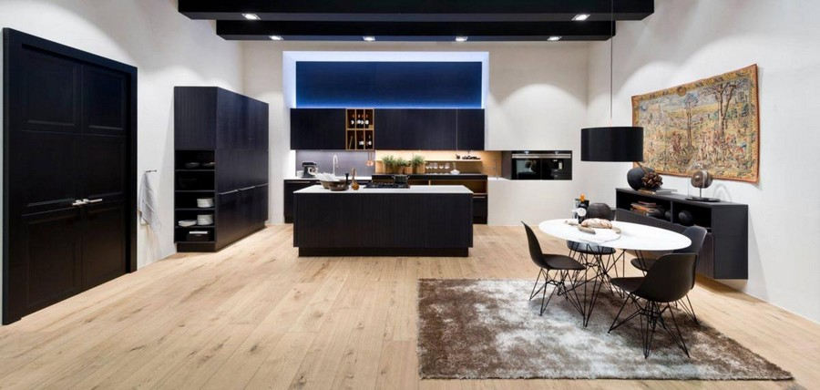 1-9-Nolte-Küchen-kitchen-set-design-at-LivingKitchen-show-in-Cologne-Germany-2017-international-exhibition-total-black-minimalistic-island