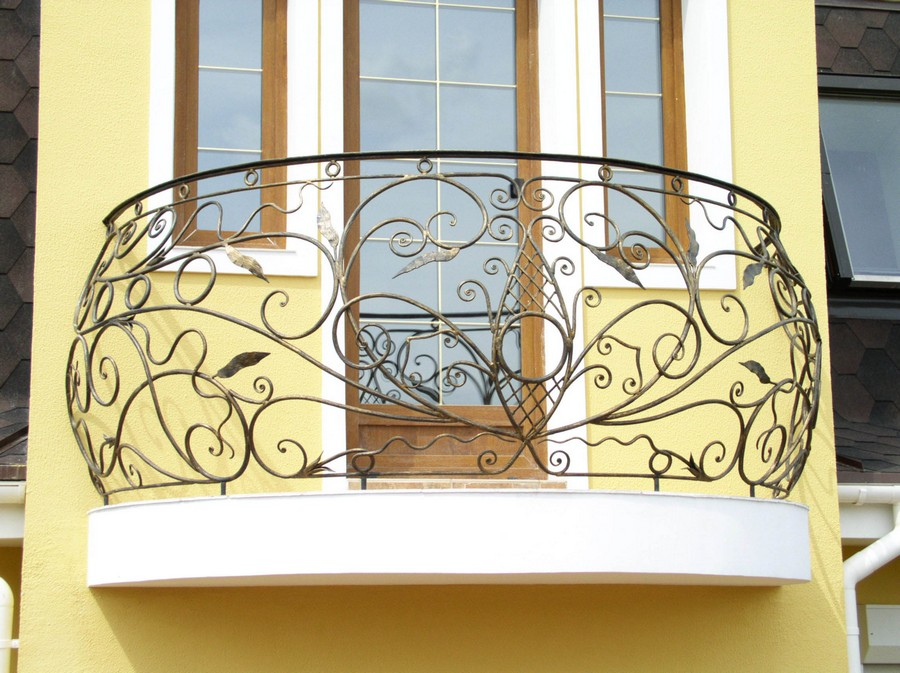 18-beautiful-balconet-balconette-Juliet-balcony-in-architecture-exterior-design-wrough-metal-railing-forgery-barrier