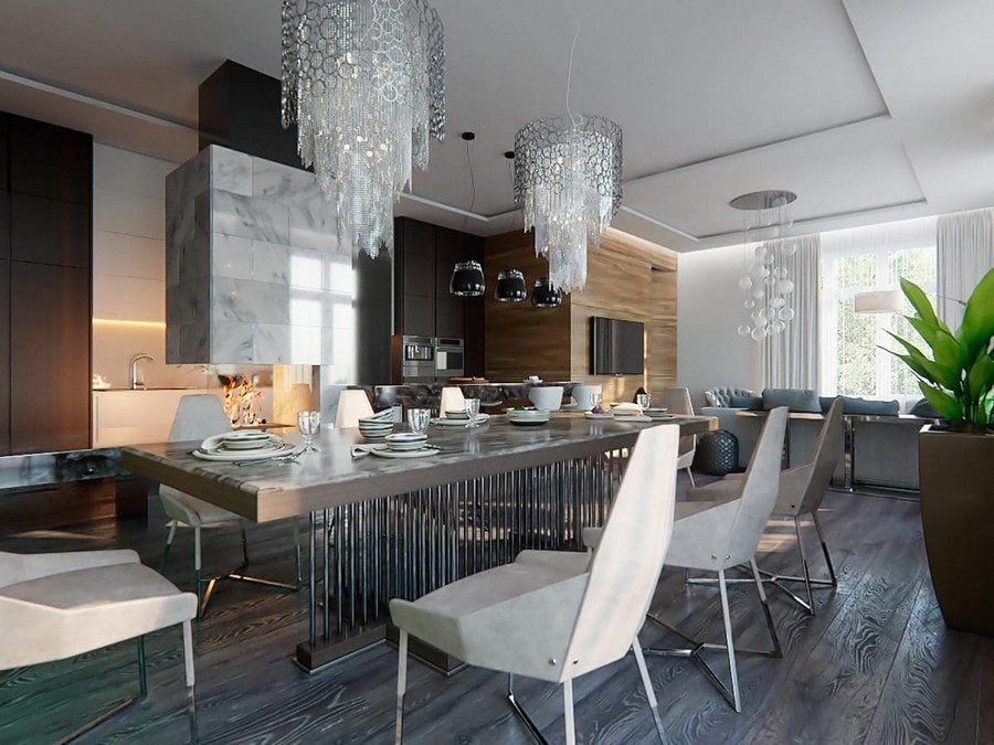 2 1 Contemporary Style Open Concept Living Dining