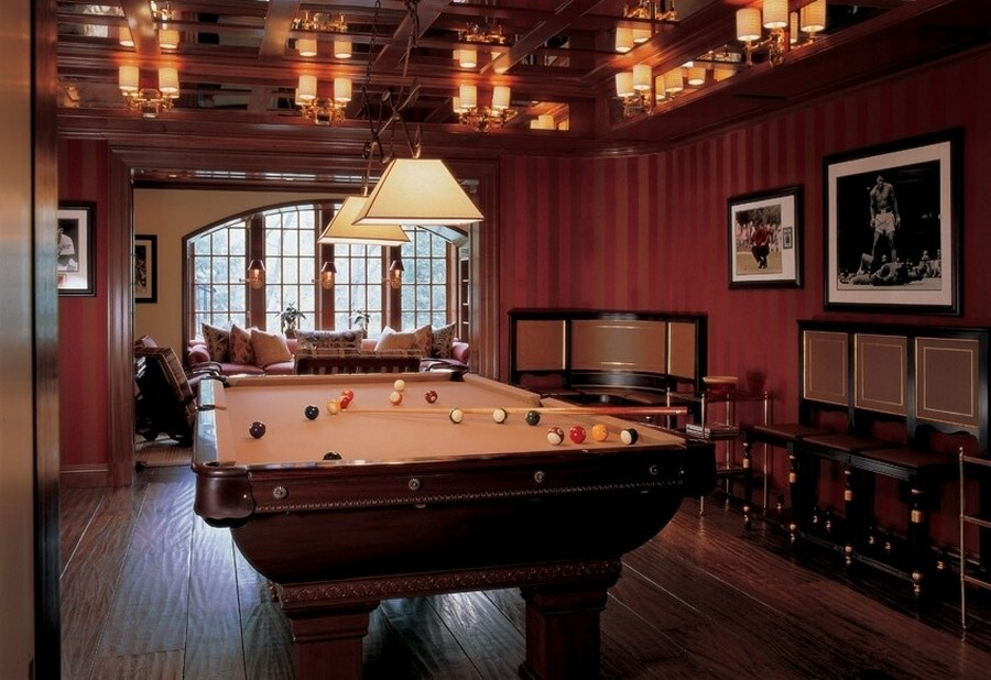 2-2-billiards-pool-room-interior-design-table-wooden-floor-pendant-lamps-beige-cloth-dark-wood