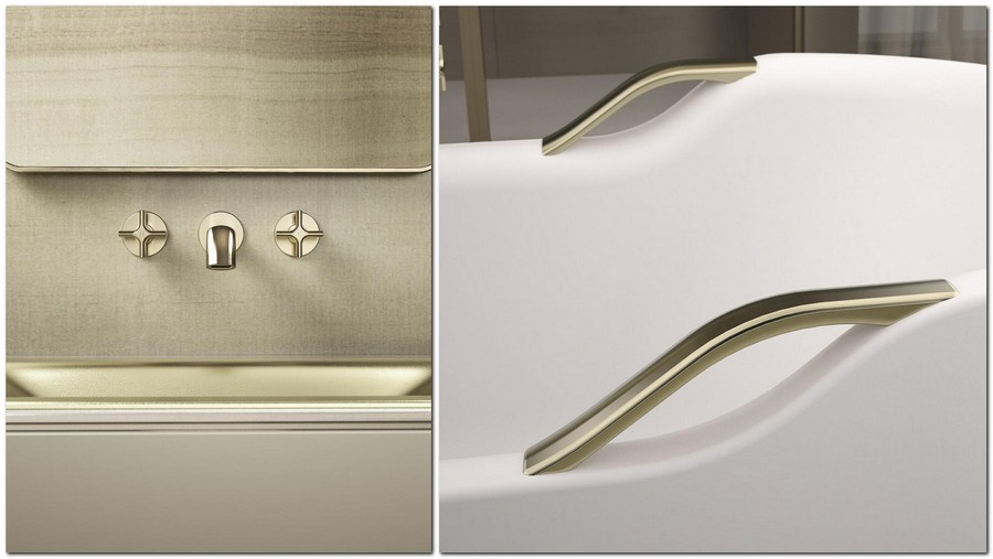 2-2-new-Baa-collection-2017-by-Roca-bathroom-design-by-Giorgio-Armani-luxurious-premium-matte-gold-washbasin-mixer-retro-style-acrylic-bath-bathtub-handles