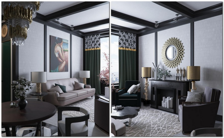 stylish interior design project inspired by kelly wearstler s works home interior design. Black Bedroom Furniture Sets. Home Design Ideas