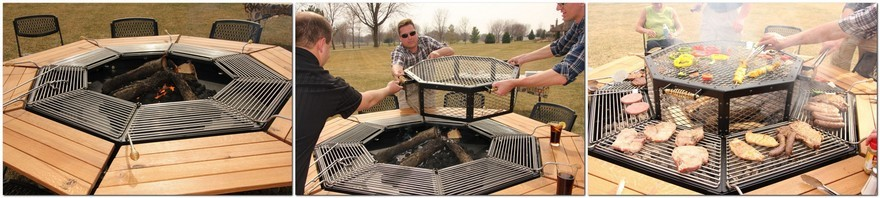 2-jag-grill-3-in-1-grill-firepit-outdoor-dining-table-eight-seat-octagonal-wooden-tabletops-removable-grilling-stations-dome-cover-for-slow-roasting-meals