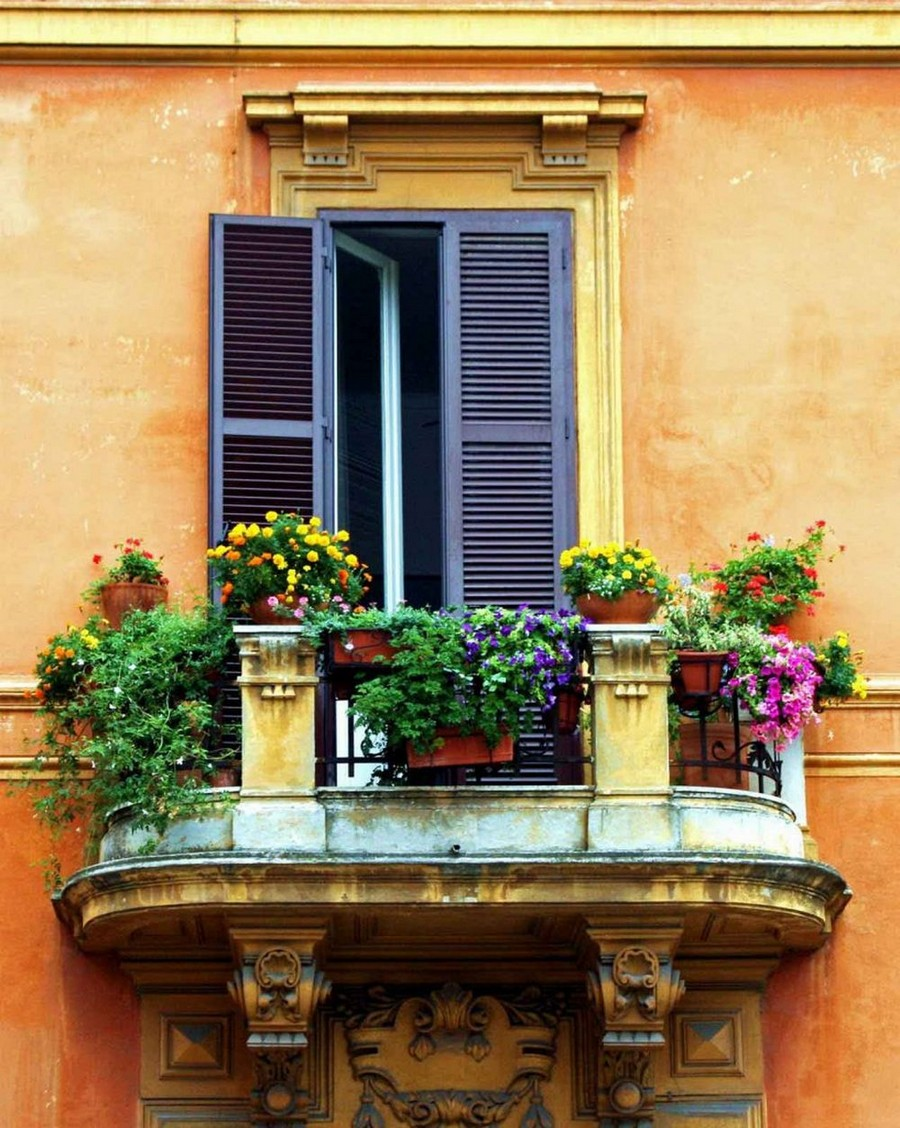 21-beautiful-balconet-balconette-Juliet-balcony-in-architecture-exterior-design-wrough-metal-railing-forgery-barrier-flower-bed