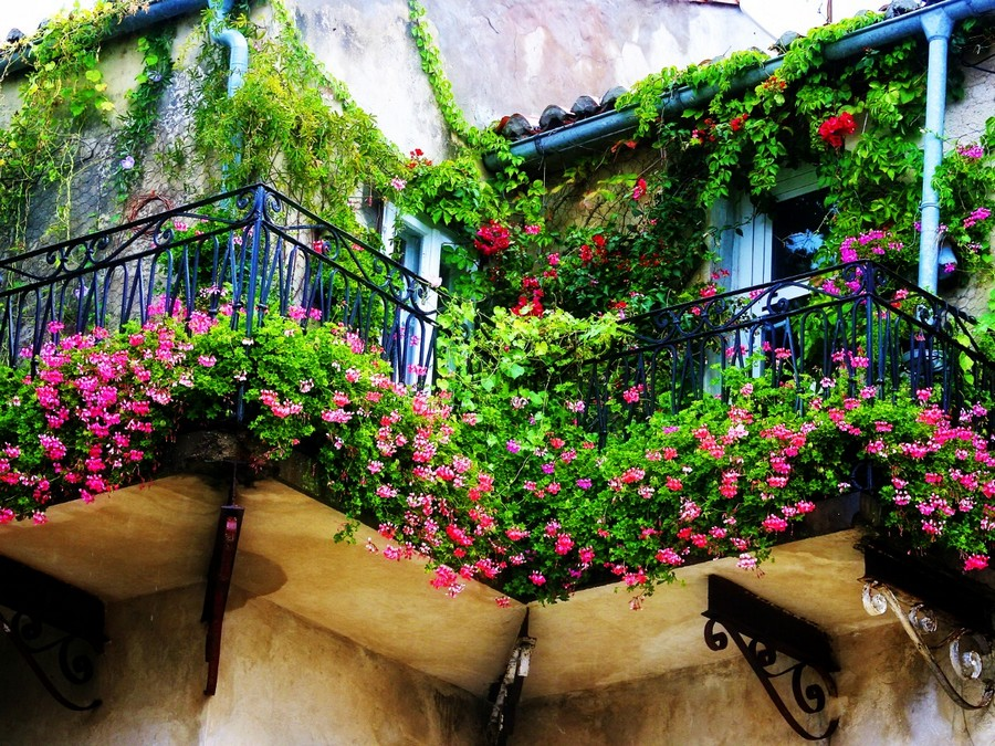 26-beautiful-balconet-balconette-Juliet-balcony-in-architecture-exterior-design-wrough-metal-railing-forgery-barrier-flower-bed