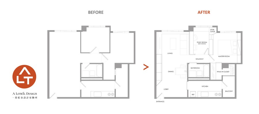 3-0-A-Lentil-Design-Taiwan-small-three-room-apartment-interior-scheme-plan-layout-changes-before-after-balcony-living-room-study-bedroom-bathroom-walk-in-closet-kitchen-dining-area