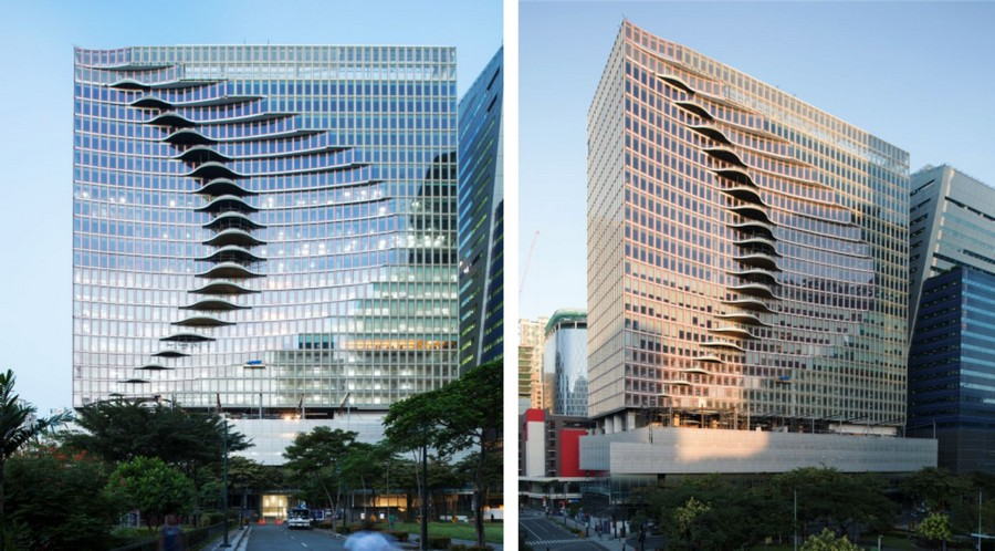 3-1-City-Center-Tower-office-building-in-Manila-Philippines-exterior-creative-modern-architecture-wavy