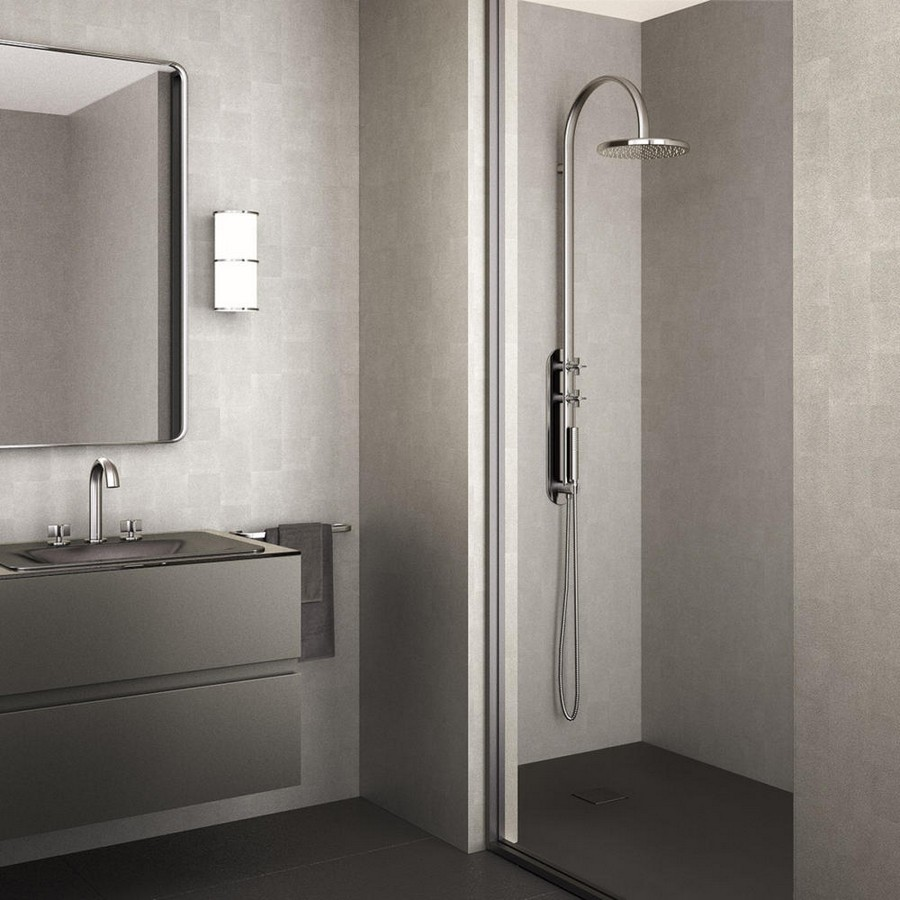 3-2-new-Baa-collection-2017-by-Roca-bathroom-design-by-Giorgio-Armani-luxurious-premium-total-gray-interior-suspended-wash-basin-cabinet-lamp-mirror-tropical-shower-silver-towel-rail