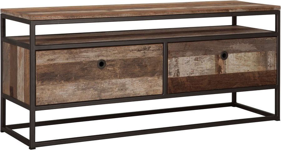 3-4-Tuareg-Collection-by-d-Bodhi-designer-reclaimed-wood-mixed-type-tropical-hardwood-furniture-teak-acacia-mahogany-gray-frame-TV-stand-two-drawers-open-rack