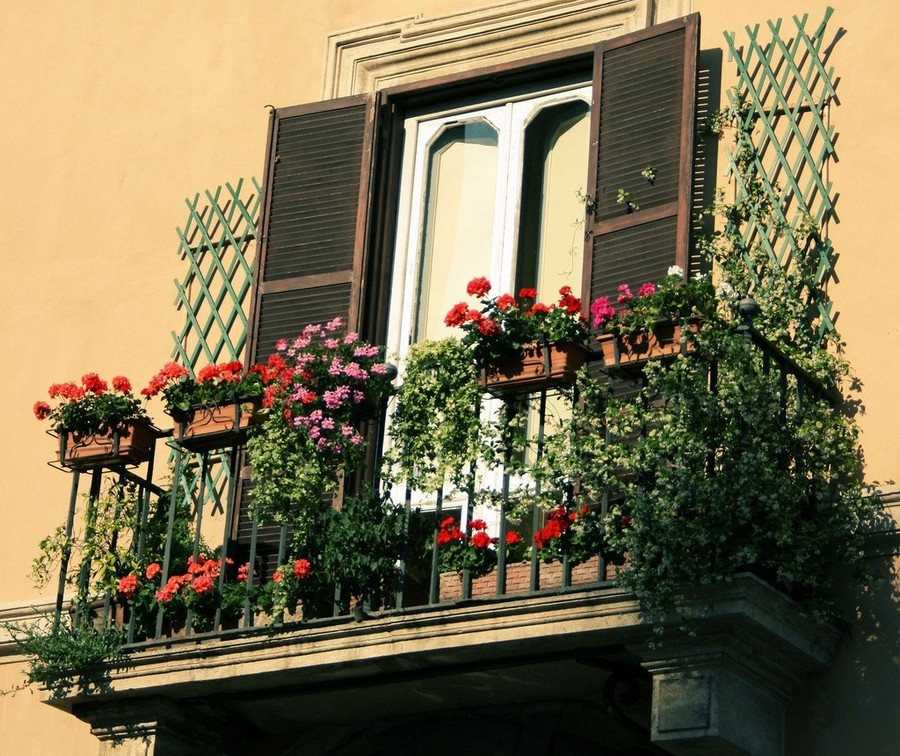 34-beautiful-balconet-balconette-Juliet-balcony-in-architecture-exterior-design-wrough-metal-railing-forgery-barrier-flower-bed