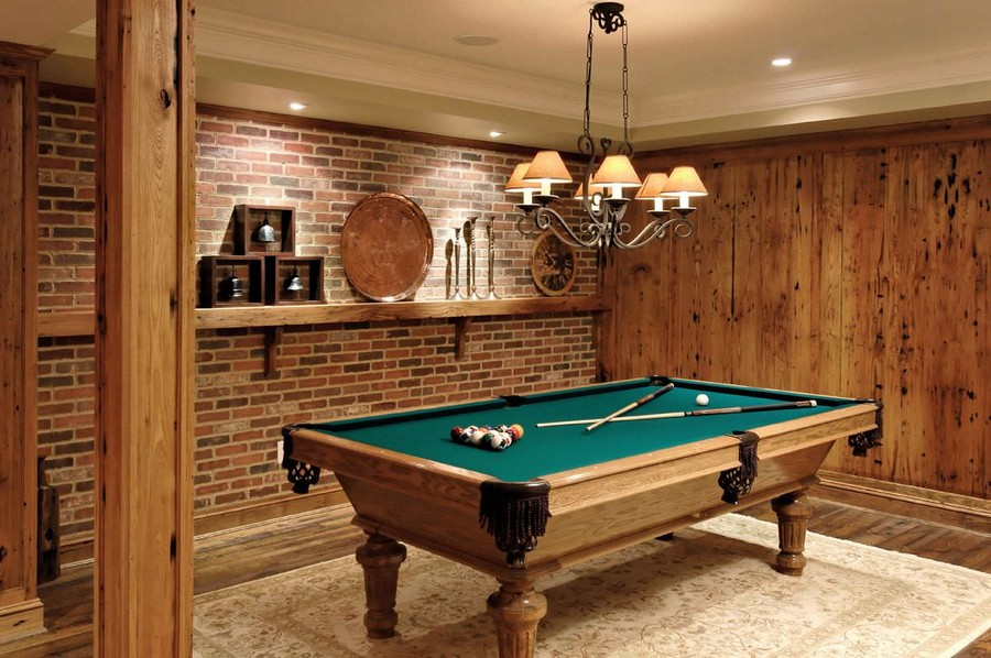 billiards room interior design tips and ideas home ForSmall Pool Table Room Ideas