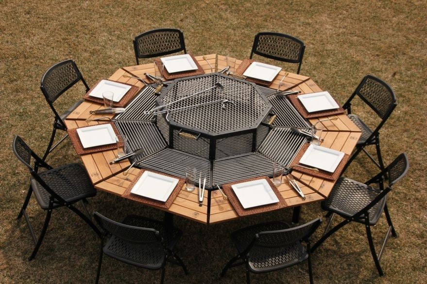 4-jag-grill-3-in-1-grill-firepit-outdoor-dining-table-eight-seat-octagonal-wooden-tabletops-removable-grilling-stations-individual-dome