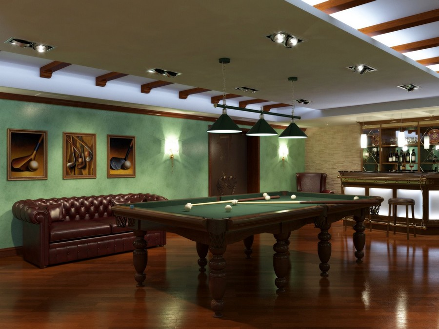 5-2-billiards-pool-room-interior-design-table-wooden-floor-carpet-rug-pendant-lamps-green-and-brown-bar-leather-sofa-chester