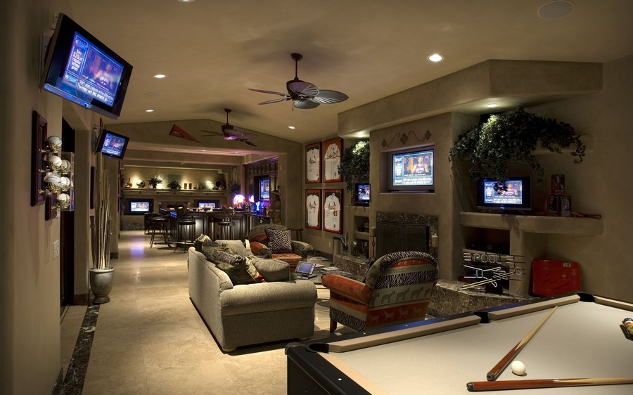 6-3-billiards-pool-room-interior-design-table-contemporary-style-lounge-fireplace-TV-set-sofas-bar