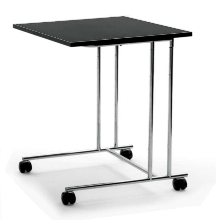 7-serving-trolley-black-oak-veneer-laconic-design-steel-legs-one-tier-Arflex-design-by-Cini-Boeri