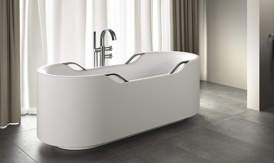 8-new-Baa-collection-2017-by-Roca-bathroom-design-by-Giorgio-Armani-luxurious-premium-total-gray-interior-acrylic-elegant-bath-bathtub-mixer-tap-silver-handles-parquet-floor-curtains