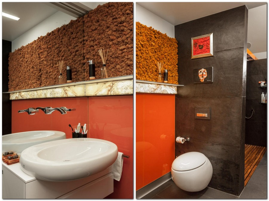 9-1-2-contemporary-style-bathroom-interior-design-round-toilet-bowl-wash-basin-living-wall-orange-moss-black-walls