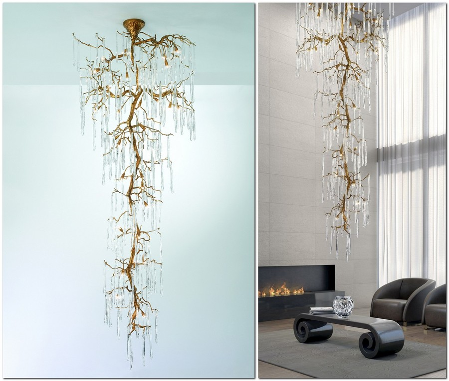 chandelier-in-interior-design--Serip-Portugal-Glamour-collection-lamps-in-bronze-metal-and-glass