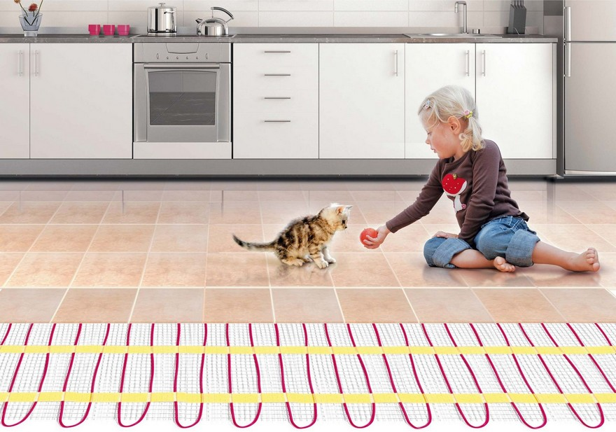 0 Underfloor Heating Kitchen Girl Playing With A