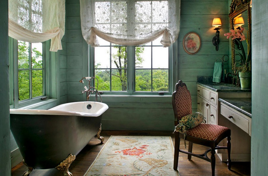 0-warm-cozy-bathroom-interior-design-retro-style-bath-bathtub-clawfoot-rug-sheer-curtains-two-big-windows-dressing-table-stone-countertop-chest-of-drawers-classical-lights-vintage-decor-chair-shower-head