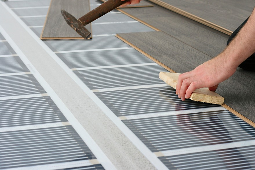 1 Underfloor Heating Film Under Laminate Floor Installation