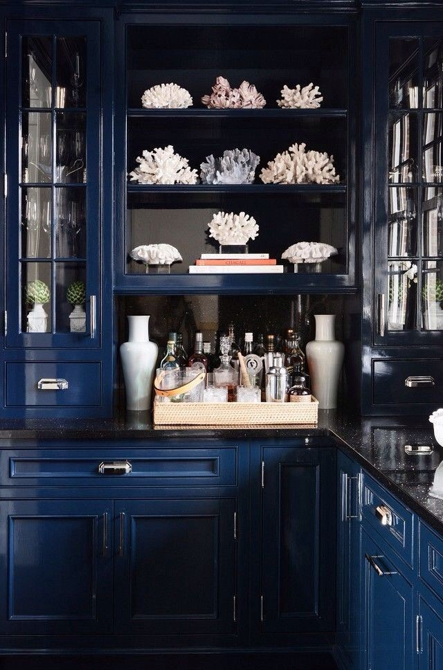 12-black-countertop-worktop-glass-cabinets-open-racks-white-tableware-blue-kitchen-cabinets-set-interior