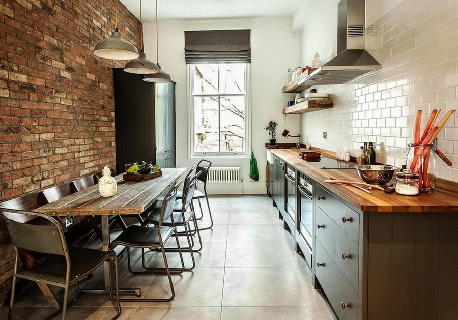 Exposed Brick Wall Living Room Ideas feng shui colors for home laundry sinks with cabinet