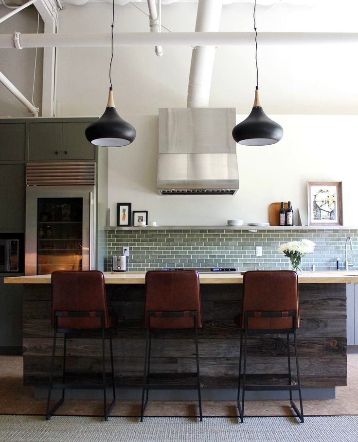 Black Pipe Kitchen Island: Home Interior Design, Kitchen And Bathroom Designs