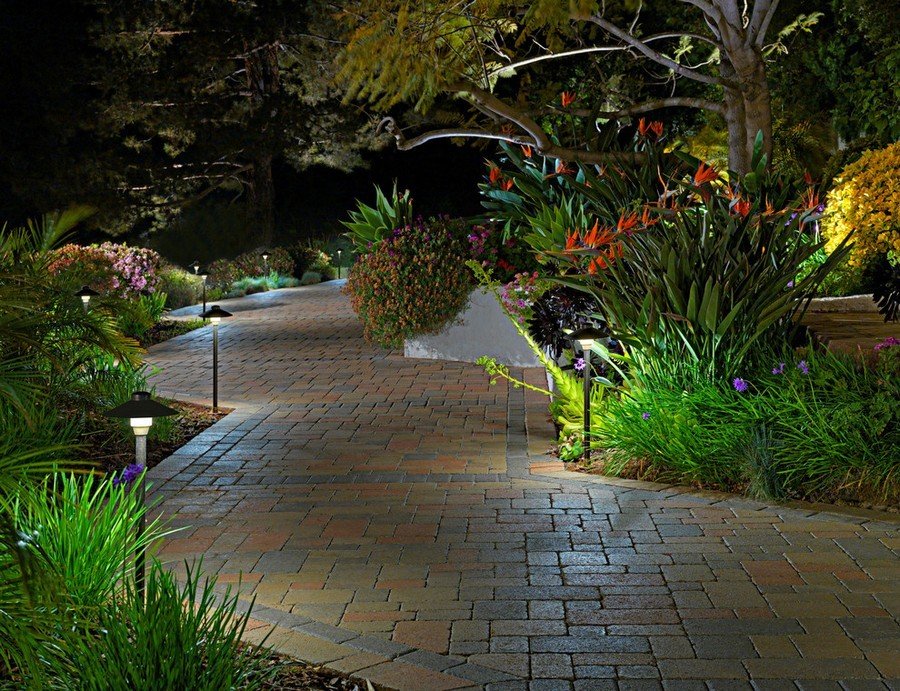 Outdoor Landscape Lighting Garden Post : Outdoor garden landscape lighting ideas path lights walkway
