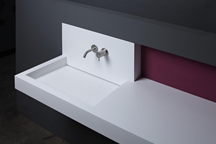 Fresh  antoniolupi slot washbasin without drain drainless without