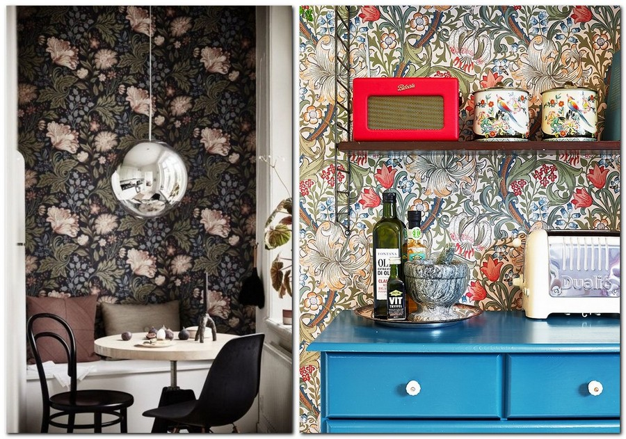 2-kitchen-wallpaper-wall-covering-ideas-in-interior-design-floral-pattern-motifs