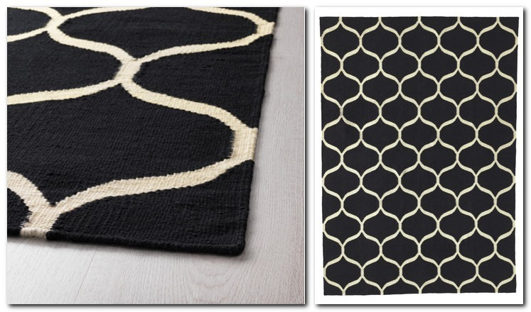 20-pile-less-carpet-rug-handmade-hexagonal-honeycomb-pattern-black-and-white-by-IKEA-Sweden-new-collection-Stockholm-2017