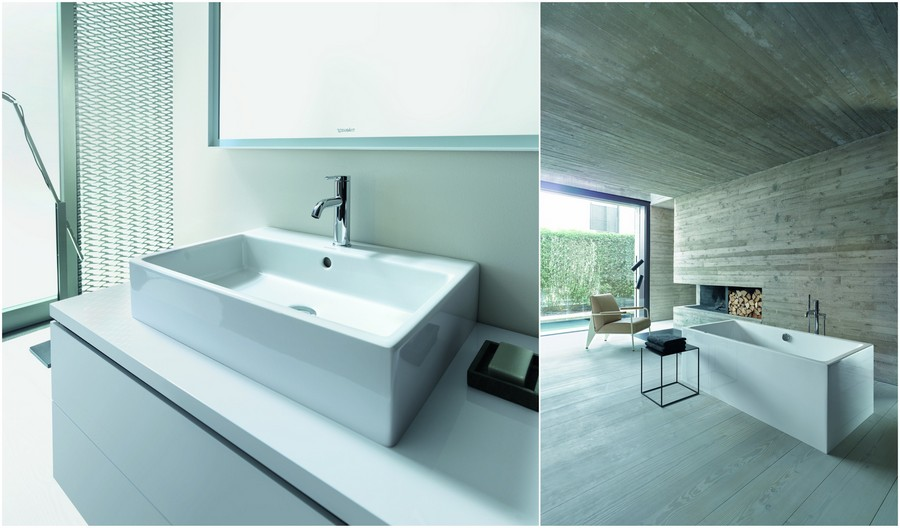 4-Duravit-new-bathroom-collection-2017-Germany-Vero-Air-rectangular-shaped-geometry-bath-bathtub-top-mounted-wash-basin