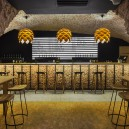 5-0-parka-Moscow-craft-beer-bar-interior-design-loft-Scandinavian-style-motifs-arched-masonry-ceiling-old-bricks-bar-table-stools-Himalayan-salt-bricks-artichoke-shaped-lamps-big-price-list-menu-display