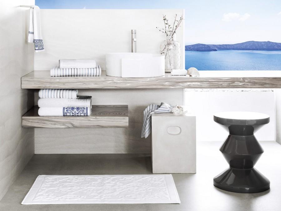 5-Togas-Greek-home-textile-new-collection-2017-Santorini-white-blue-pattern-bath-towels