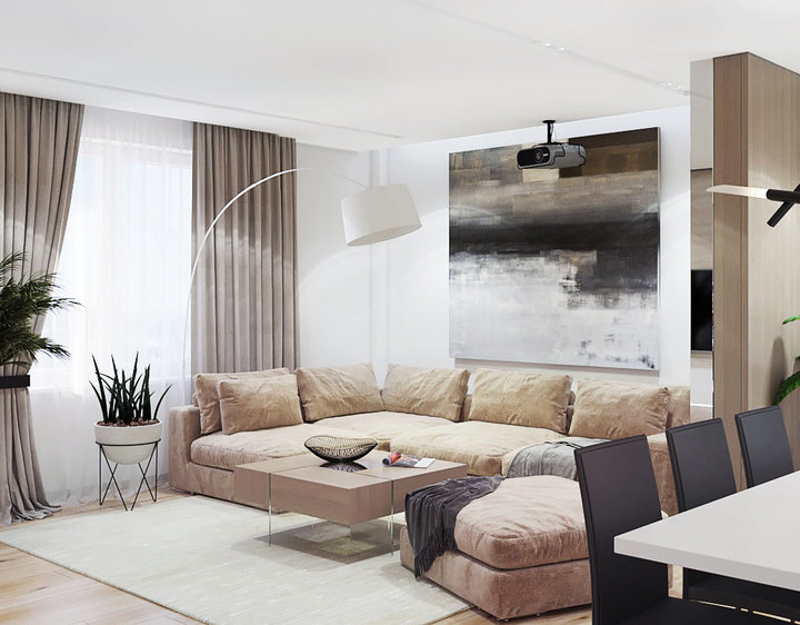 6-2-contemporary-style-living-room-lounge-interior-design-white-walls-big-floor-lamp-beige-comfy-modular-sofa-coffee-table-wall-painting-art-plants-dining
