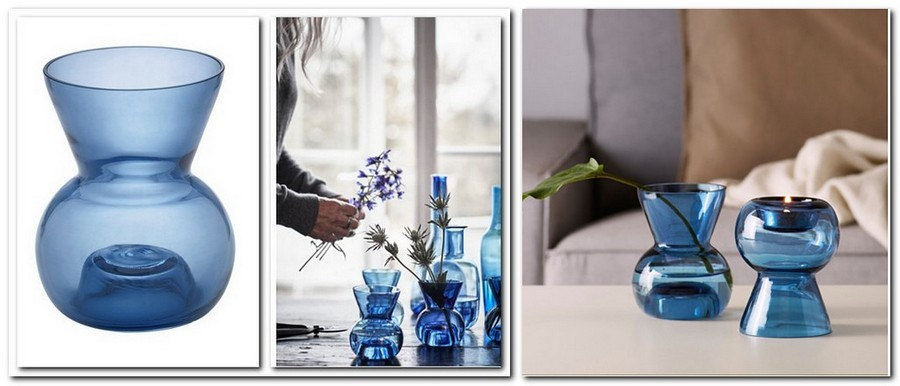 8-hand-blown-blue-gall-flower-vase-candle-holder-by-IKEA-Sweden-new-collection-Stockholm-2017