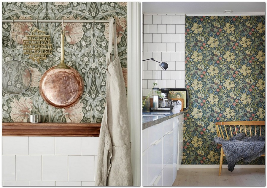 8-kitchen-wallpaper-wall-covering-ideas-in-interior-design-vintage-style-floral-motifs-pattern