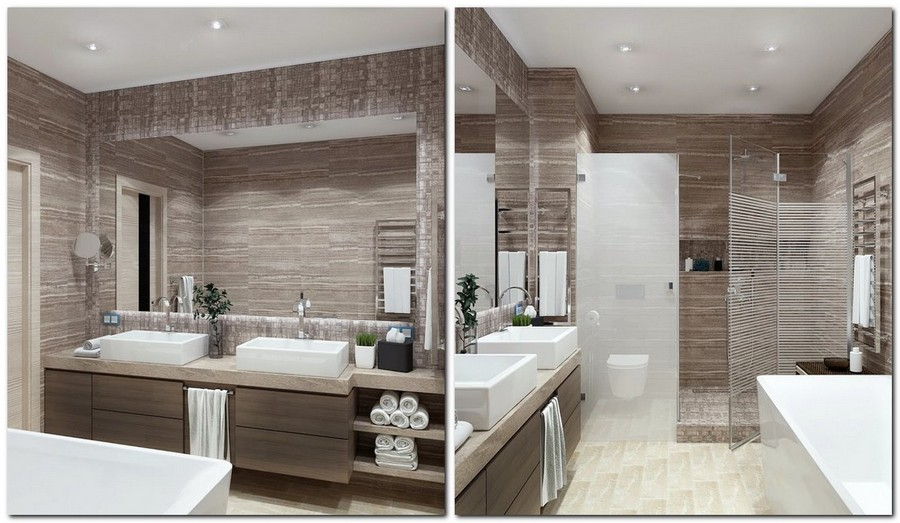 9-contemporary-style-interior-design-bathroom-gray-beige-white-wall-mounted-suspended-double-rectangular-wash-basin-cabinets-big-mirror-shower-cabin-racks