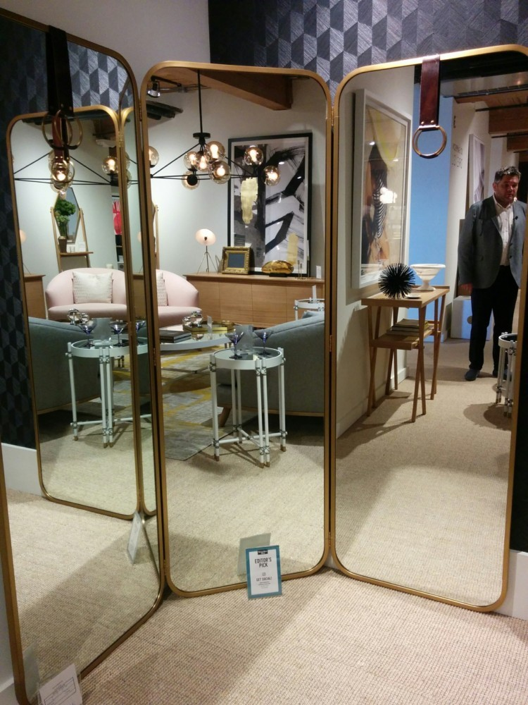 1-2-American-style-furniture-collection-2017-in-interior-design-High-Point-Market-Fair-Spring-2017-triple-full-length-mirror-for-hallway-in-brass-frame
