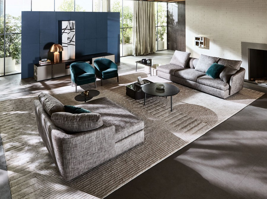 1-3-Molteni-&-C-new-collection-of-contemporary-style-furniture-at-Salone-de-Mobile-Exhibition-Milan-2017-living-room-set-gray-sofas-coffee-table-blue-arm-chair