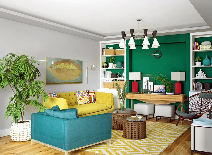 1 Living Room Lounge Eclectic Mixed Style