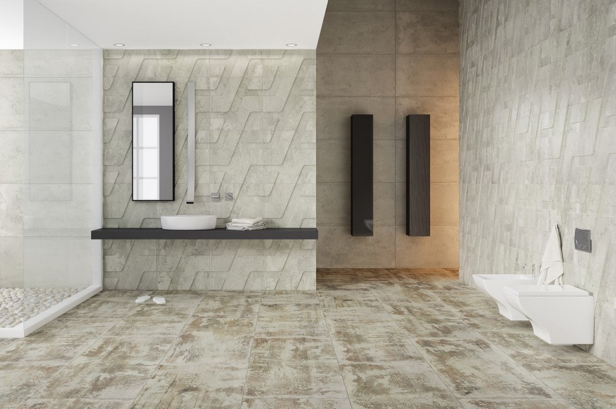 2-10-ceramic-tiles-in-bathroom-interior-design-loft-style-geometrical-motifs-cement-concrete-texture-pattern-Apavisa-brand-collection-2017