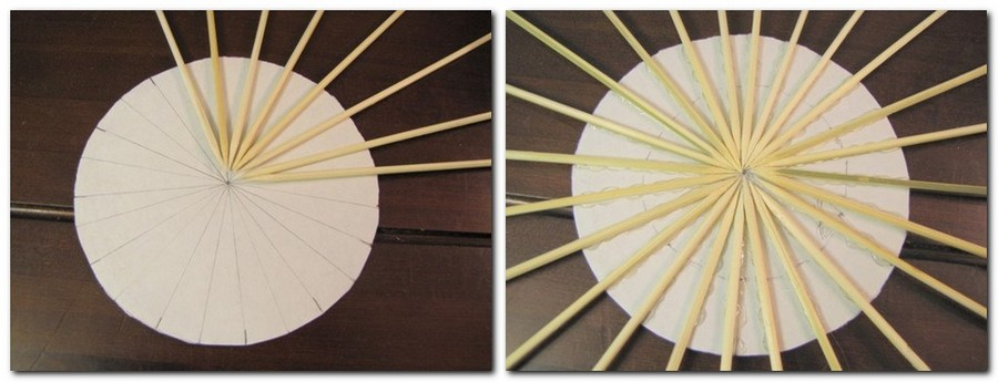 2-DIY-handmade-Sunburst-sun-shaped-mirror-from-bamboo-wooden-skewers-sticks