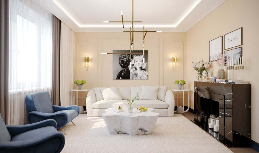 Stylish Image-Maker\'s Apartment Furnished with Eichholtz Pieces ...