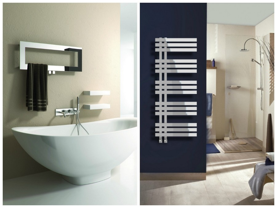 3 4 designer heated towel rail towel drier - Designer Heated Towel Rails For Bathrooms