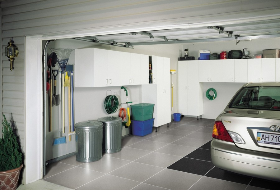 3-tidy-clean-garage-storage-cabinets-ideas-bin-cans-floor-tiles-car-garden-tools-wall-mounted-neat