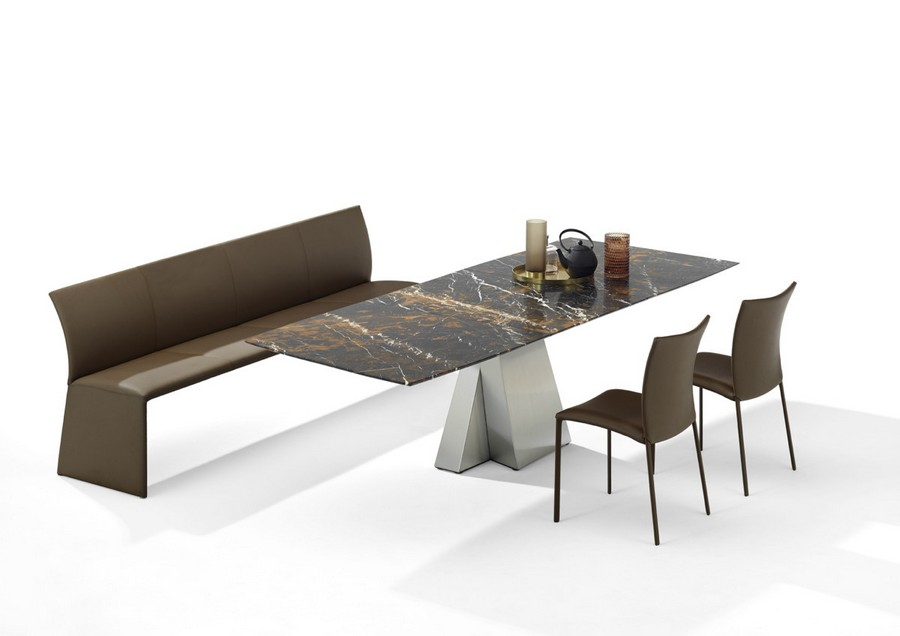 4-1-Draenert-new-collection-of-contemporary-style-furniture-at-Salone-de-Mobile-Exhibition-Milan-2017-natural-stone-top-dining-table-chiars-bench-set