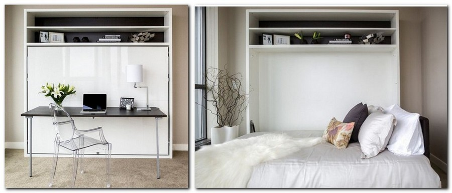 4-1-wall-bed-pull-down-fold-down-convertible-folding-Murphy-bed-white-shelving-unit-home-office-wrk-area-desk-study-in-interior-design-small-tight-space-one-room-apartment-ideas-studio