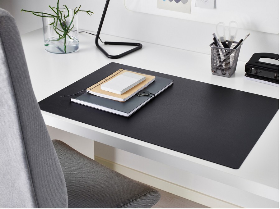 4-SKRUTT-black-drak-gray-rectangular-desk-pad-table-mat-protector-by-IKEA